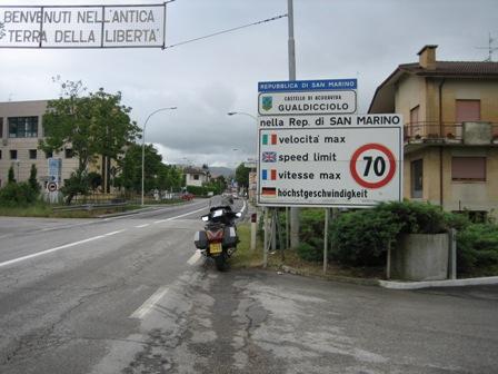 Italy and San Marino Border